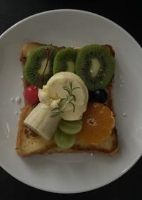 フルーツのフレンチトースト
