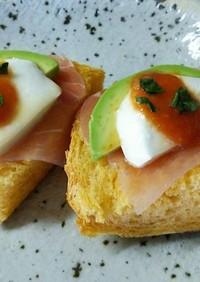 トマト塩糀パンのカナッペ