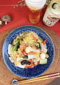 椎茸粉と干し貝柱のうまみ♫八宝菜