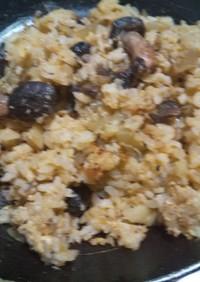 簡単!生椎茸のヘルシー炒飯
