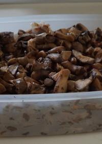 椎茸の軸の佃煮