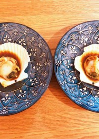 フライパンで殻付きホタテの焼き方☆