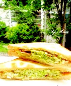 沼サン!キャベツたっぷり★サンドイッチ