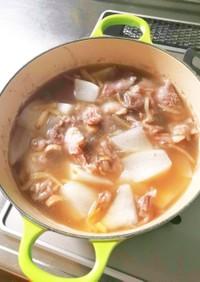 牛スジ煮☆生姜スープ仕立て