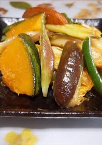 ミョウガと茄子の煮物