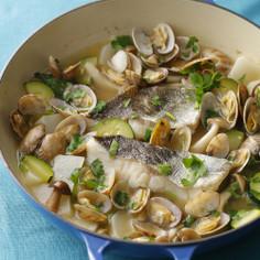 白身魚のバスク風スープ煮