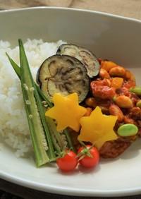 夏野菜たっぷり!キーマカレー