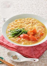 ニラ玉トマトの簡単酸辣湯麺