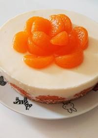 生クリーム不要☆みかんレアチーズケーキ