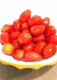 ミニトマト大量消費♪りんご酢マリネ