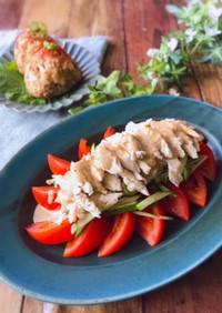 鶏むね肉で棒棒鶏サラダ