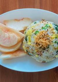 玄米ライ麦チャーハンでダイエット朝ごはん