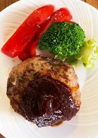 オーブンで作る王道ハンバーグ