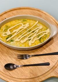 長芋と卵のオーブン焼き