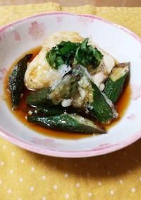 麺つゆで簡単揚げ出し豆腐