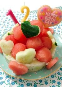 わんちゃんのケーキ(12歳)