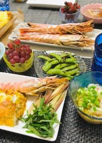 夏レシピ夕飯献立・素麺・ラザニア・エビ