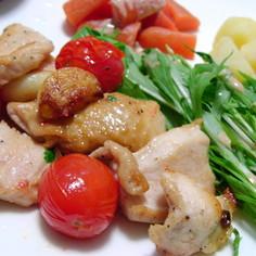 鶏胸肉とトマトのイタリアンソテー