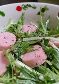 水菜と魚肉ソーセージで★簡単可愛いサラダ