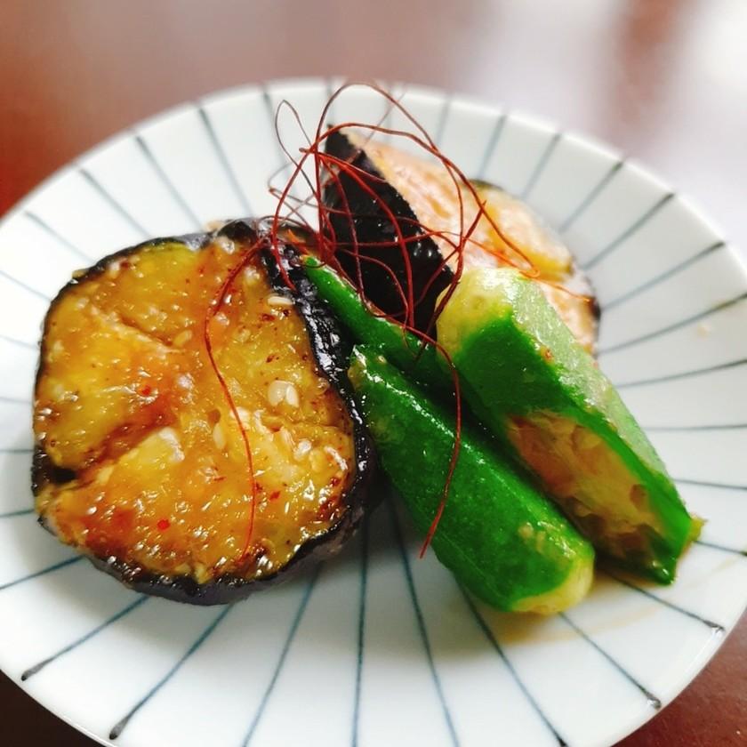 ご飯が進む〜❢茄子とオクラの味噌炒め