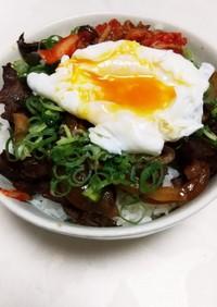 ♡牛焼き肉とキムチの贅沢スタミナ丼♡
