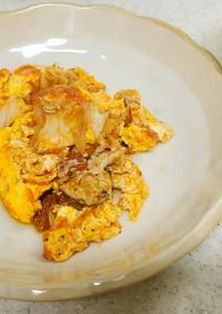 豚肉とトマトの卵とじ&キャベツの味噌汁
