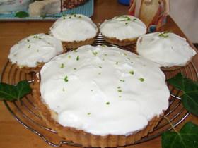 黄桃とアンズのカスタードタルトケーキ
