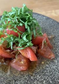 トマトのはちみつ和風マリネ
