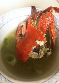 蟹の形味噌汁