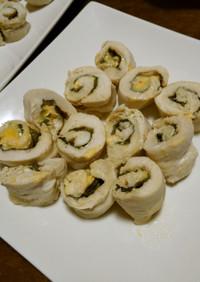 鶏ササミの南蛮味噌チーズ巻