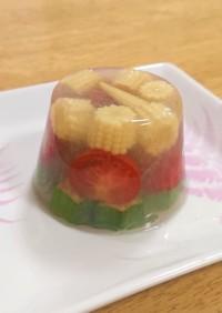 夏野菜の寒天ゼリー