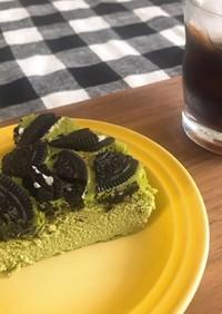 簡単 抹茶オレオチーズケーキ
