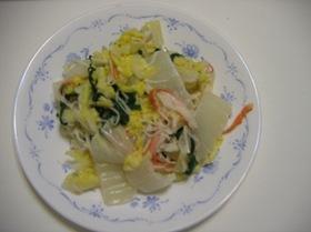 白菜のカニ風味和え
