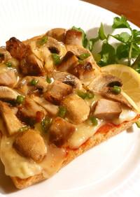 茸とハムのピザトースト サルチャ