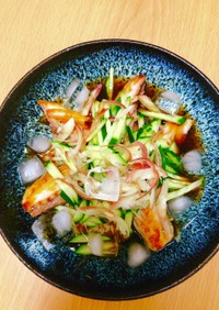 風味豊かな焼きサバのぶっかけ冷や素麺