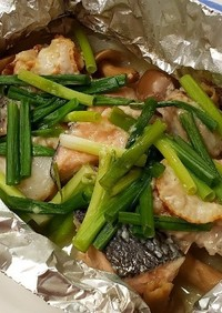 発酵Wな☆鮭とホタテのホイル蒸し