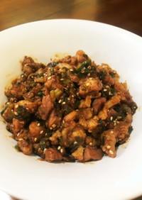 ご飯のお供に、豚バラと分葱の甘辛味噌炒め