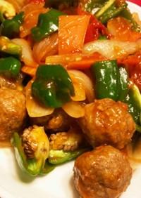 酢豚ならぬ酢肉団子/10分で晩ご飯