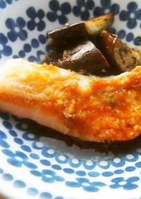 鮭・茄子の生姜ソースかけ♪