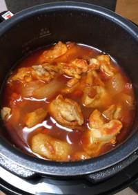 電気圧力鍋でチキントマトスープ