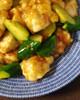 鶏むね肉ときゅうりの梅さっぱり炒め