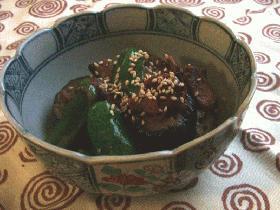 ベーコンと茄子の味噌炒め