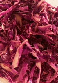 紫キャベツの簡単ハニーマリネ