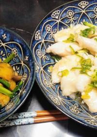 ささみで水晶鶏&小松菜のペペロン炒め