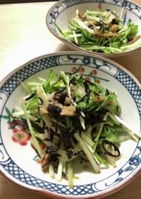 水菜とひじきと大豆のサラダ