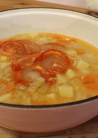 鮭と野菜のスープ (中華、香港家庭料理)