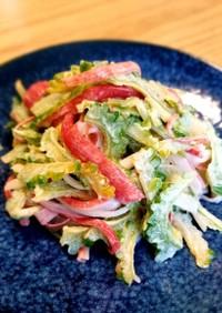 簡単副菜☆ゴーヤとカニカマのマヨサラダ