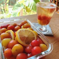 ミニトマトのレモンシロップ煮