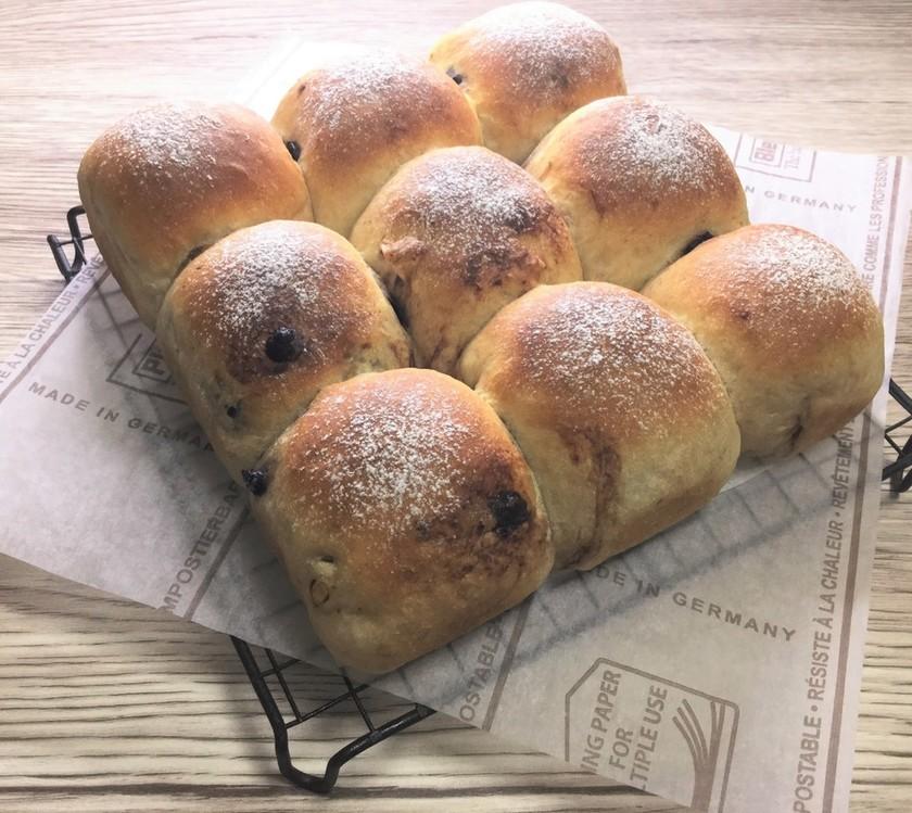 ポリ袋deふわラテ&チョコのちぎりパン♪