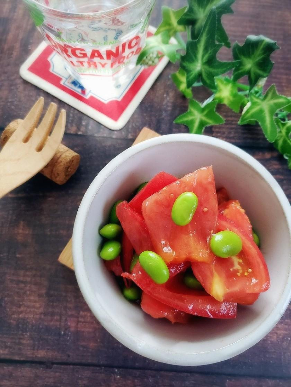 5分で簡単!トマトと枝豆のからしマリネ
